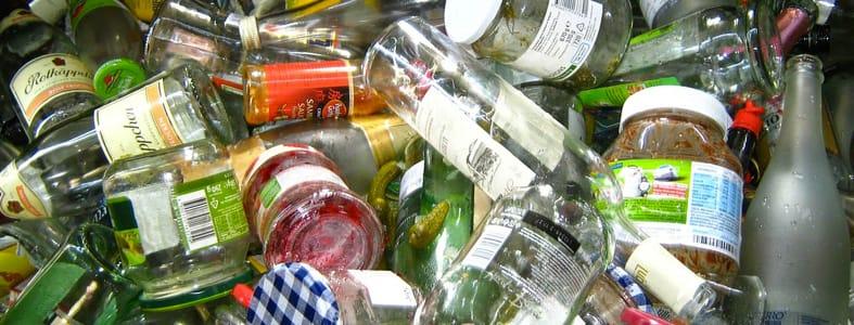 Nascheiding glas uit huisvuil | Afvalcontainerbestellen.nl