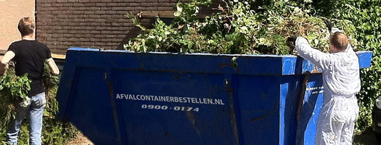 Grote vraag naar afvalcontainers