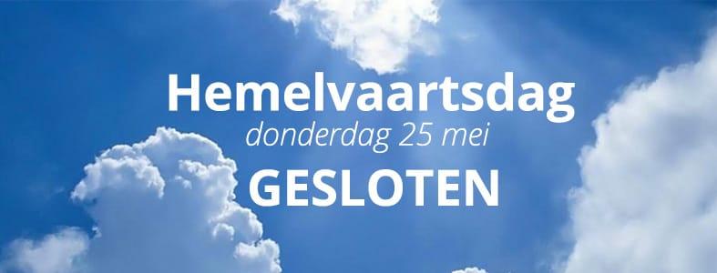 Hemelvaartsdag gesloten | Afvalcontainerbestellen.nl